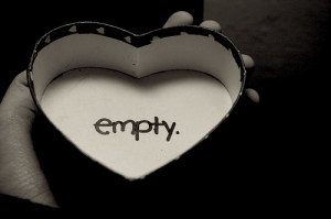 Feeling Empty Inside Quotes Empty heart