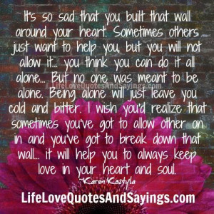 Walls around Your Heart Quotes