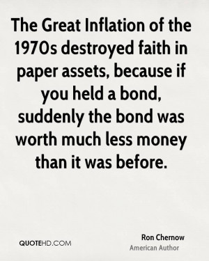 The Great Inflation of the 1970s destroyed faith in paper assets ...