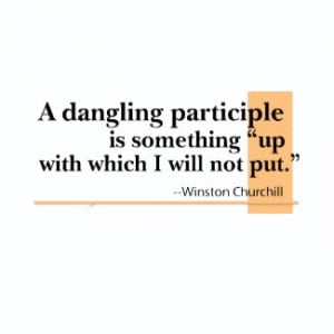 Dangling Participles Funny Grammar Quote Shirt by alinaspencil