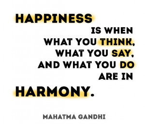 quote gandhi happiness