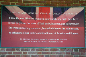 ... General Cornwallis' troops. This quote was in from a correspondence