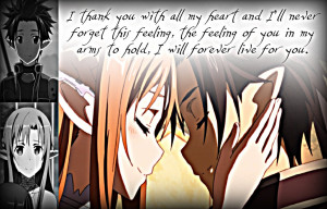 Kirito and Asuna, Feelings by Xela-scarlet on deviantART