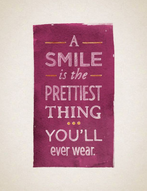 is the prettiest thing you'll ever wear. #quote Sweet, saucy, tender ...