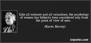 Applications of Horney's Theories: Feminist Psychology