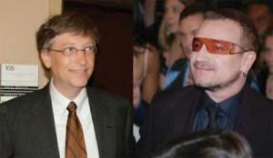 Bono also talked about Poverty when he talked at TED :