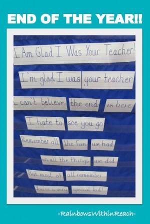 photo of end of school rhyme teacher appreciation rhyme