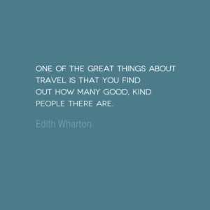 Travel Quote of the Week: Kind People