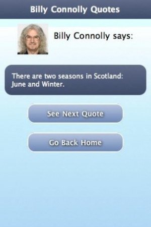 View bigger - Billy Connolly Quotes for Android screenshot