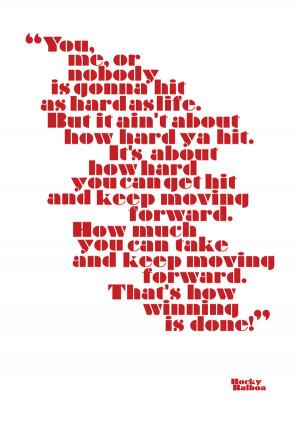 Rocky Balboa : Typographic Poster