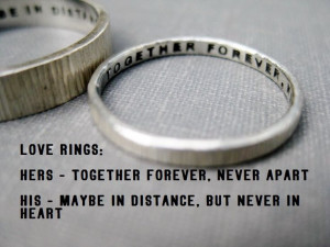 Quote Idea Love Rings His n Hers Promise by boutonrougedesigns, $114 ...