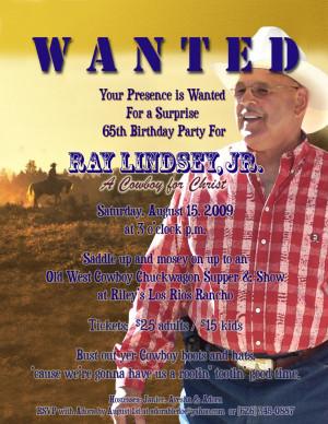 Dad's 65th Bday Invitation