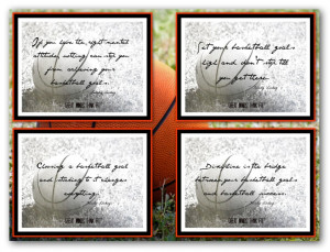 Basketball Poster Collages with Quotes