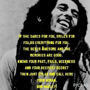 Bob Marley quote yea bruh