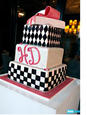 have to say it looks like a sweet 16 cake. The cake is black and
