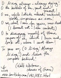Leaves Of Grass Walt Whitman Quotes