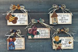 Folk Art Design Pattern 'Garden Sayings' fun painting crafting art ...