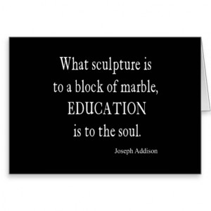 Vintage Joseph Addison Education Quote Greeting Cards