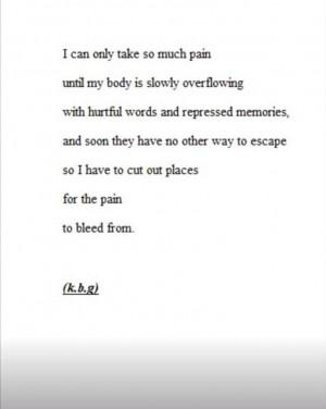 Depression Quote | Cutting