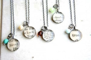 DIY jewelry / Turn favorite sayings into a necklace with mod podge and ...