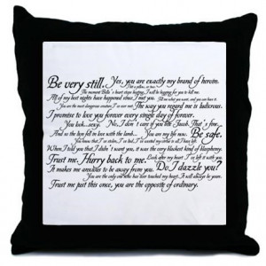 Bella Gifts > Bella More Fun Stuff > Edward Cullen Quotes Throw Pillow