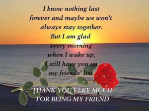 wake up, I still have you on my friends' list: Quote About Im Glad ...