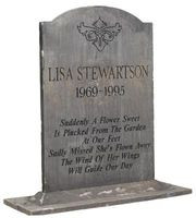 Some families opt for a simple headstone with a short description of ...