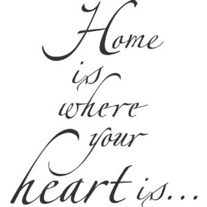 Background Text Home is where your heart is