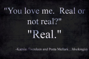you love me. real or not real?.....REAL