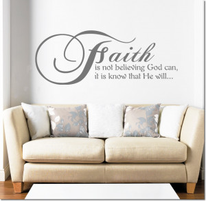 ... Is Not Believing... Wall Quotes Decor Vinyl Wall Decals Stickers 47