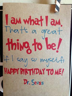 ... myself Happy Birthday to me. dr. seuss. birthday card. on Etsy, $3.95