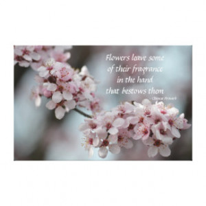 Cherry Blossom Floral Gallery Wrap Canvas