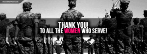 Thank You To All Women Who Serve Wallpaper
