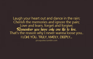 Dance Quotes Tumblr Laugh your heart out dance in