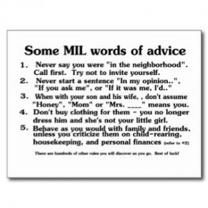 Interfering Mother In Law   Mother in Law Advice