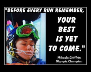 Skiing Poster Mikaela Shiffrin Photo Quote Wall Art Print 8x11 quot ...