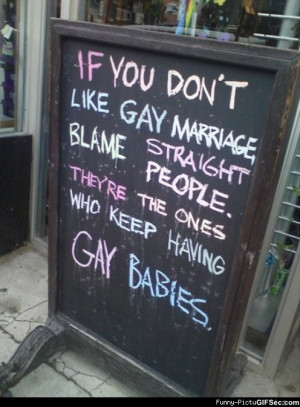 Blame it on the straight people