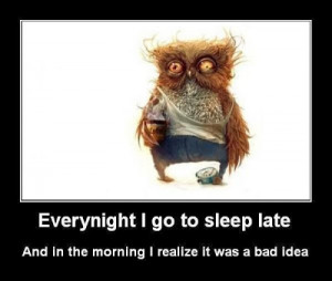 going to sleep late funny facebook quote