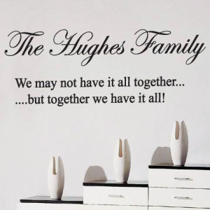 Personalised Family Name Art Wall Quotes / Wall Stickers / Wall Decals ...