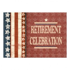 Patriotic Military Veteran Retirement Celebration Custom Announcement