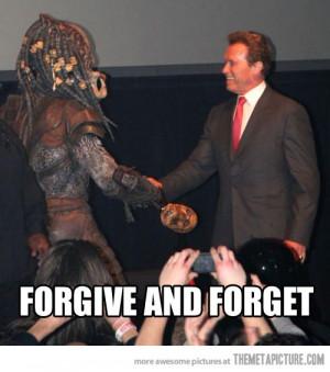 Funny photos funny Schwarzenegger shaking hands Predator