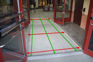 All metal entrance matting is custom made to fit any size entrance way ...