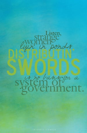 System of Government: Monty Python Quote Poster, 11x17