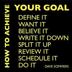 Follow these steps on How to Achieve your Goal More