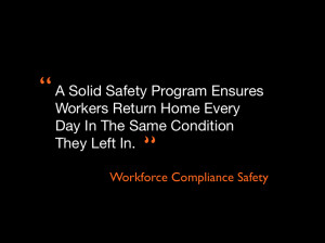 safety quote from workforce compliance safety