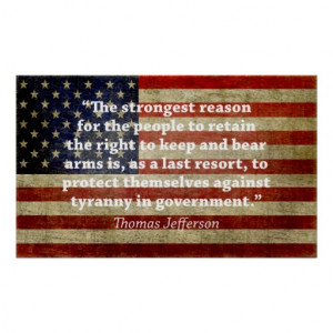 Jefferson: Right to bear arms Print