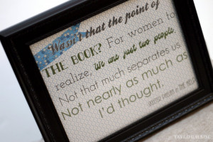 """Book Club Journals & """"The Help"""" Quote Printable"""