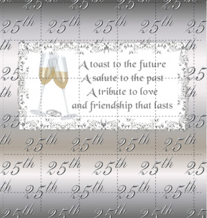 25th anniversary poems for friends