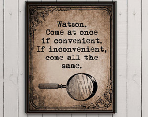 Sherlock Holmes Quotes - sherlock quote on Etsy, a global handmade and ...