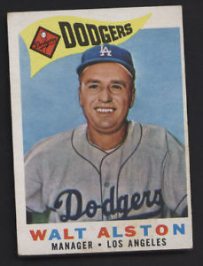 Walt Alston Los Angeles Dodgers 1960 Topps Card 212